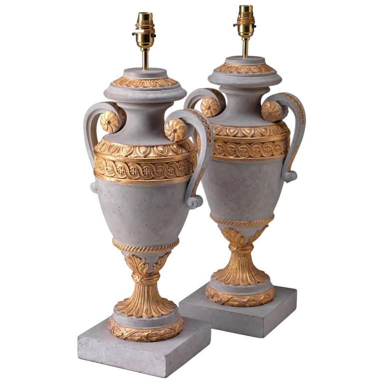 Lamps in the manner of Robert Adam For Sale