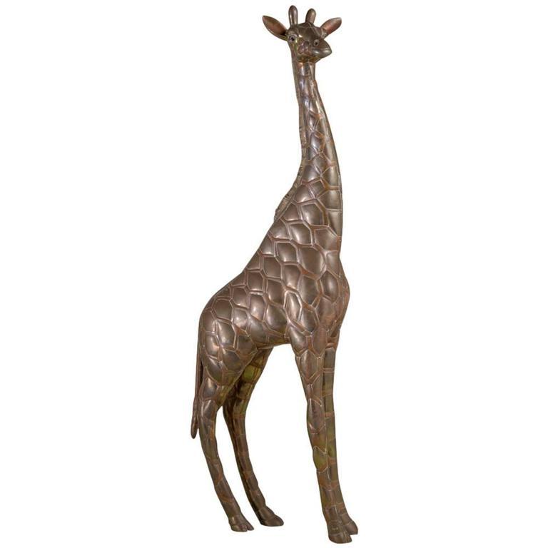 Small Copper and Brass Giraffe by Sergio Bustamante 1