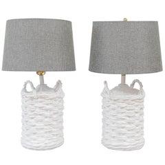 Pair of John Dickinson Plaster Lamps