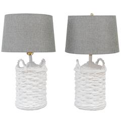 Pair of John Dickinson Plaster Lamps