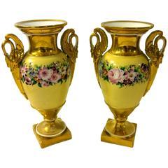 19th Century Old Paris Porcelain Urn, Pair