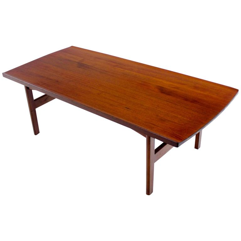 danish modern solid teak coffee table designed by tove and edvard