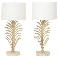 Pair of Palm Leaf Table Lamps