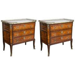 Pair of French Louis XVI Style Chests