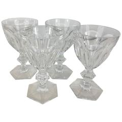 Four Baccarat Harcourt Goblets