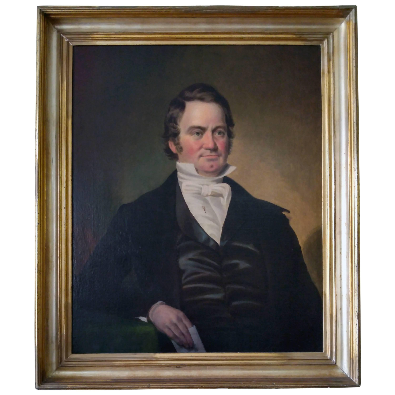 19th century American Southern Portrait by Benoni Irwin