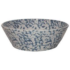 19th Century Spongeware Cream Bowl