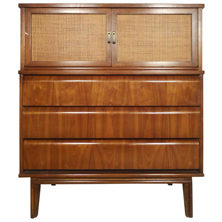 Unique Cane Front Tall Dresser