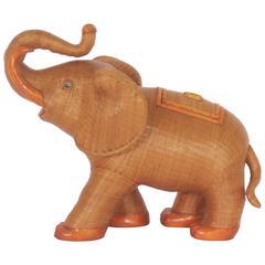 Large and Impressive Midcentury Wicker Elephant Basket or Box