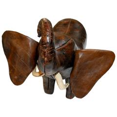 Vintage Leather Elephant by Dimitri Omersa for Abercrombie & Fitch