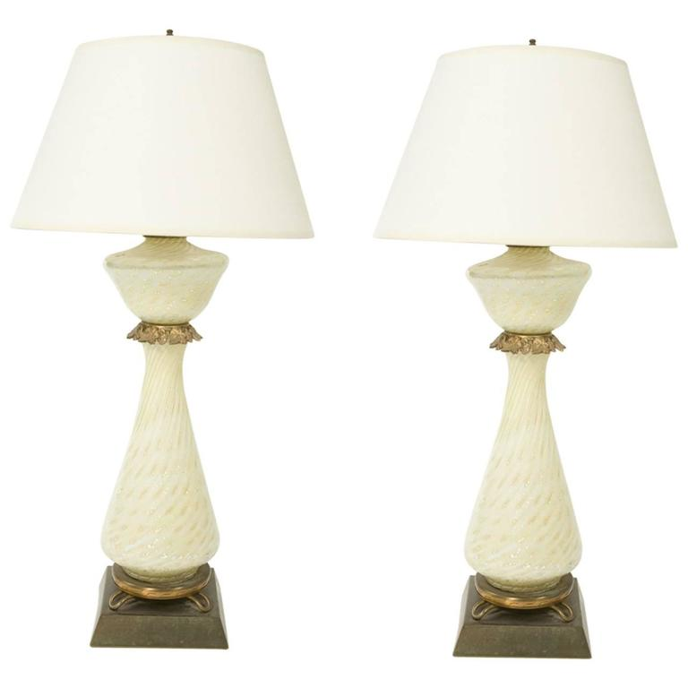 Pair of Murano Glass Lamps 1