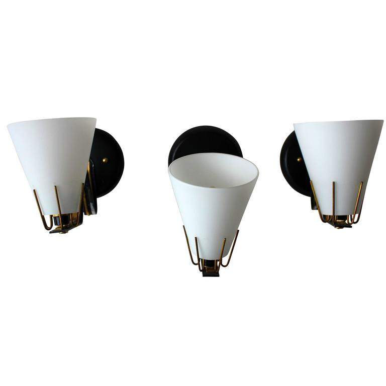 Italian Wall Lights Atributted to Angelo Lelli