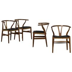 Four Y-Chairs, Hans J. Wegner, Denmark, 1965