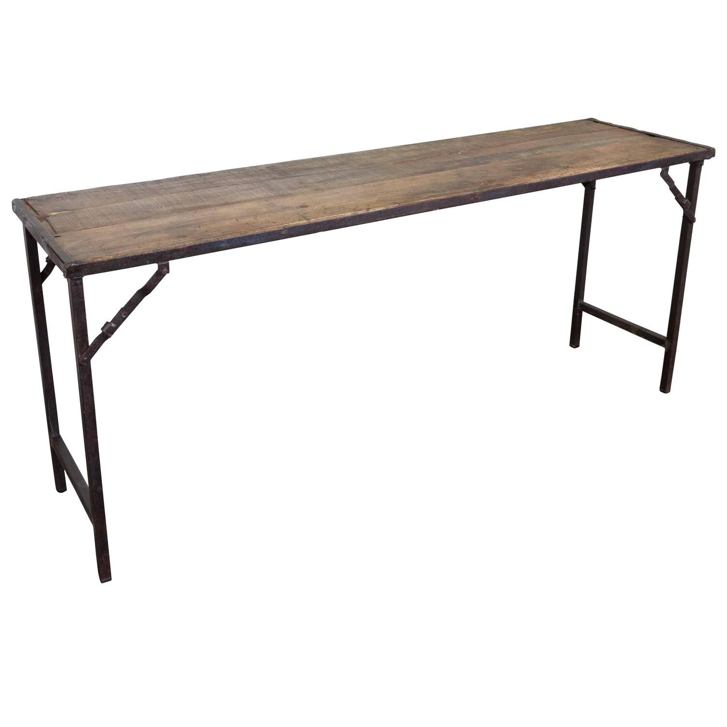 1920s French Industrial Style Folding Console At 1stdibs