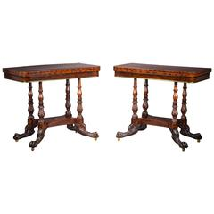 Pair of Mahogany Card Tables in the Neoclassical Taste
