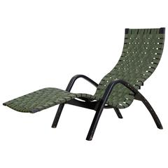 Clifford Pascoe webbed adjustable chaise longue, USA, 1950s