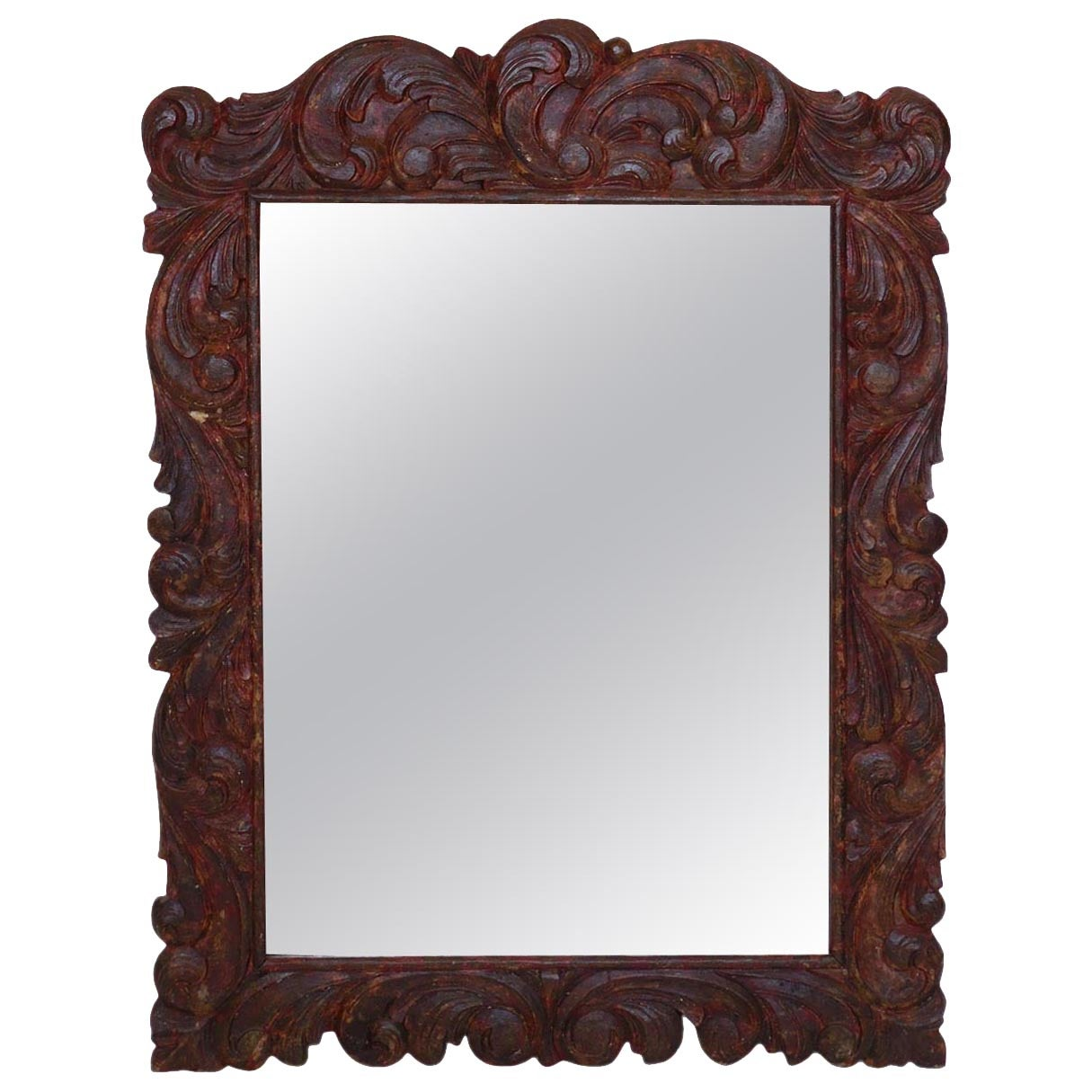 Hand-Carved Mirror