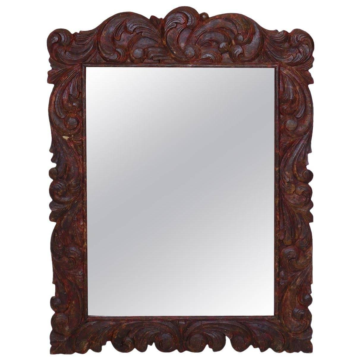 Hand carved mirror for sale at stdibs