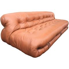 Tobia Scarpa Soriana Leather Sofa