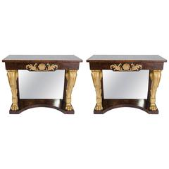 Pair of Late 20th C. Console Tables