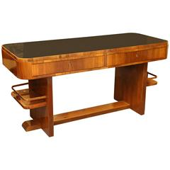 Art Deco Walnut Desk from Hungary