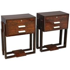A Pair of Art Deco Side Tables