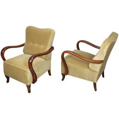 Pair of Italian Deco Chairs