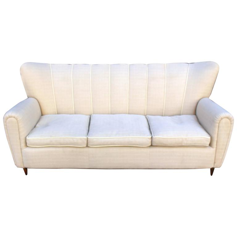 italian sofa in the style of guglielmo ulrich for sale at