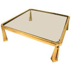 Hollywood Regency Coffee Table by Peter Ghyczy