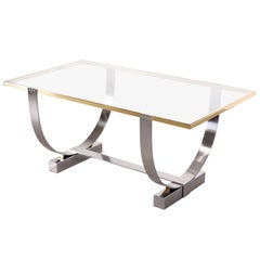 Donald Deskey Polished Steel Console Table for Deskey-Vollmer, Inc., 1927-1931