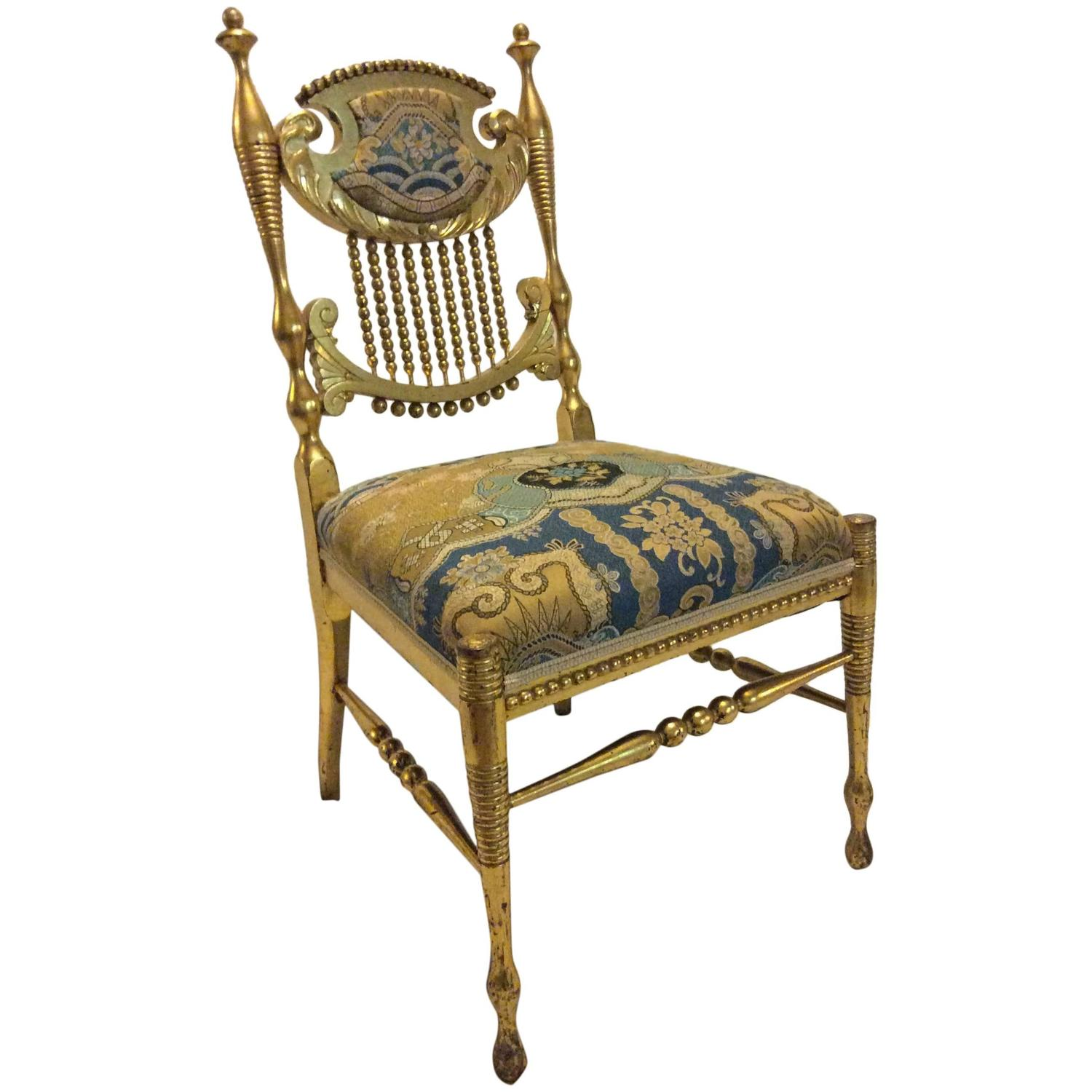 Aesthetic Movement Gilt Side Chair At 1stdibs
