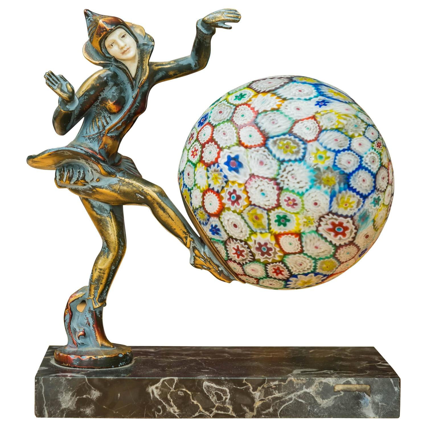 Gerda gerdago art deco harlequin style dancer lamp at 1stdibs for Art deco style lamp