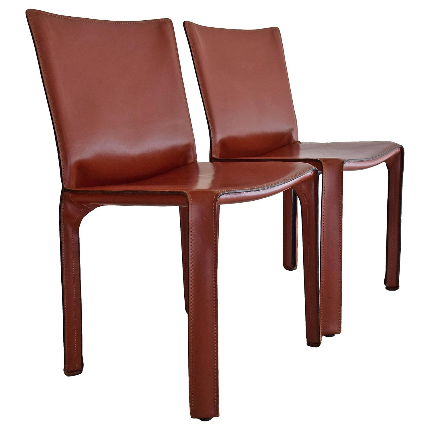1977 CAB Chairs by Mario Bellini for Cassina at 1stdibs