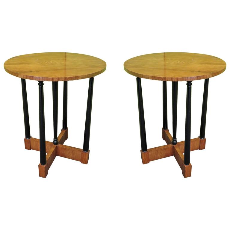 Pair of 1940s Ashwood Austrian Side Tables