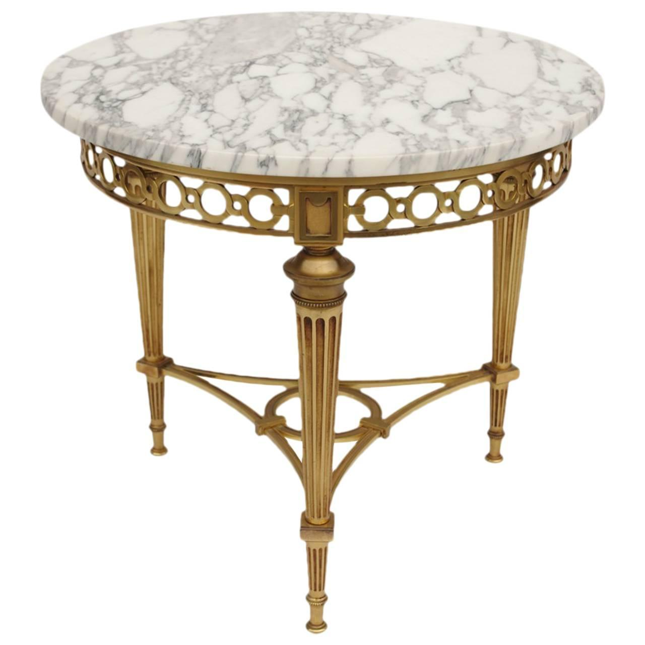 round louis xvi style side table at 1stdibs. Black Bedroom Furniture Sets. Home Design Ideas
