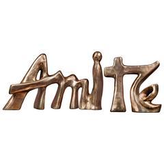 "Bronze Sculpture ""Amitié"" by the Artist Catherine Val"