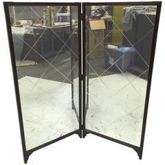 French Modern Folding Floor Mirror
