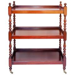 Three-Tiered Mahogany Cart