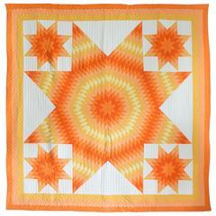 Vintage Patchwork Quilt Star of Bethlehem