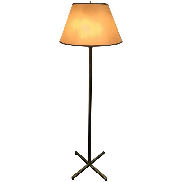 T H Robsjohn Gibbings X Base Brass Floor Lamp At 1stdibs