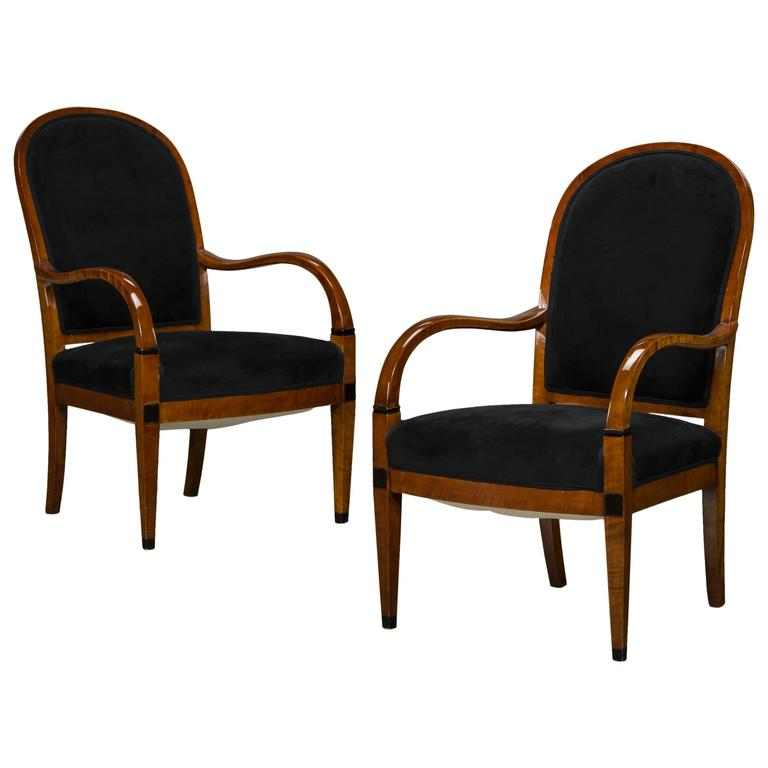Pair of Art Deco Armchairs, Denmark, circa 1920 For Sale