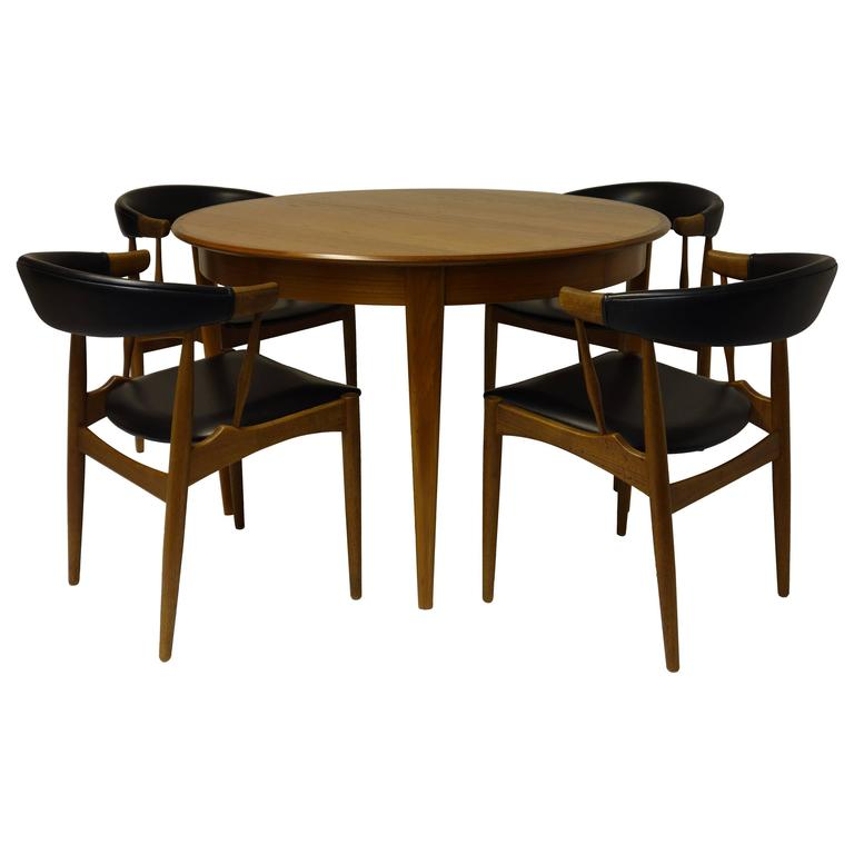 DINING ROOM SET By Johannes Andersen Dining Table Chairs Extendible  1