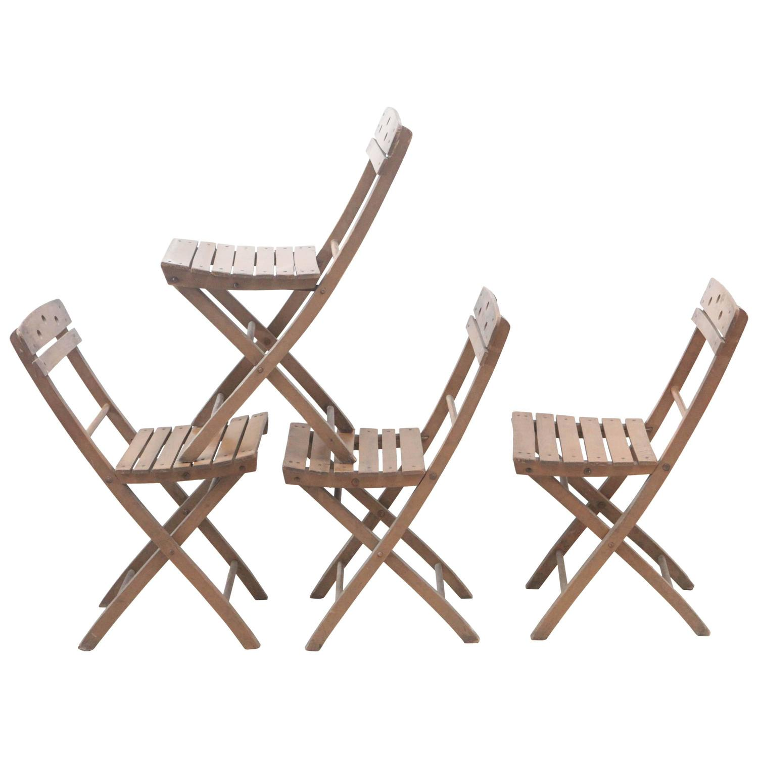 Italian Bistro Folding Chairs 16 Available at 1stdibs
