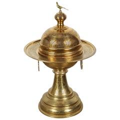19th Century Turkish Moorish Brass Brasier