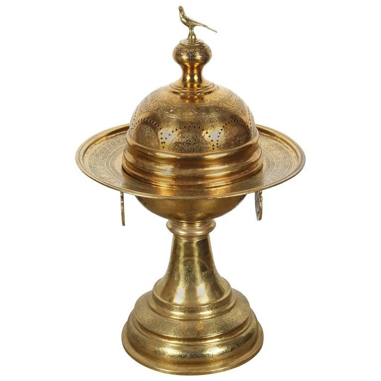 19th Century Turkish Moorish Brass Brasier For Sale At 1stdibs