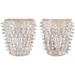 Spiked Murano Glass Sconces