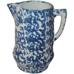 19th Century Sponge Ware Pitcher from Pennsylvania