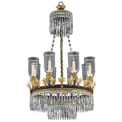 Regency Eight-Light Gilt Bronze Chandelier