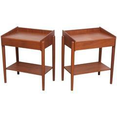 Pair of Danish Teak, Side Tables, Borge Mogensen for Soberg Moblefabrik, 1960s
