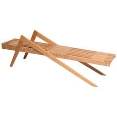 Grasshopper Form Wood Bench